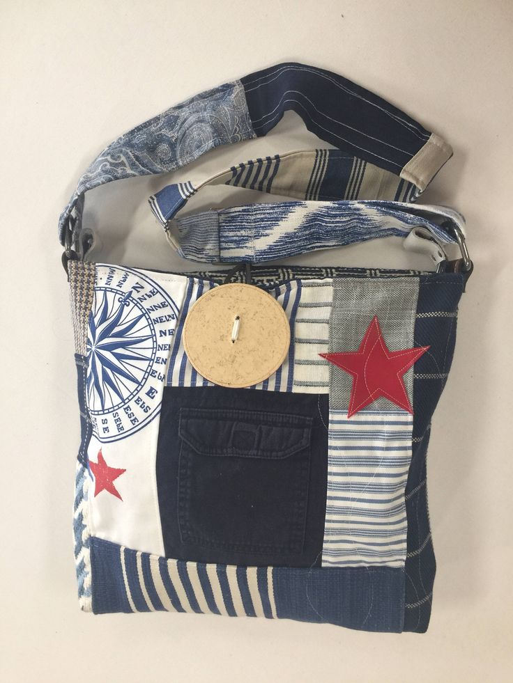 A personal favorite from my Etsy shop https://www.etsy.com/listing/526302258/navy-blue-with-red-star-multitasking
