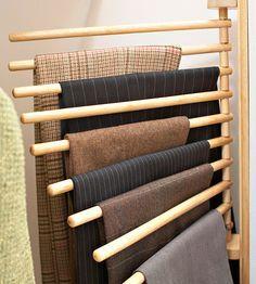NEW Wall Mount Trouser Pant Closet Organization Rack Storage Home ...