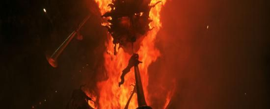 The bonfires of San Juan, the symbol of Alicante, Spain
