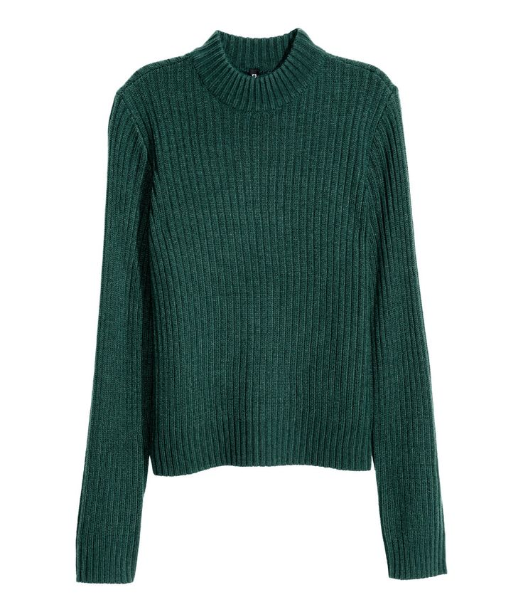 Rib-knit Sweater | Emerald green | Ladies | H&M US