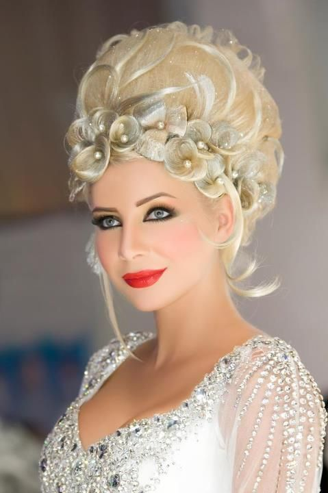 Wedding hairstyle for short bride hair