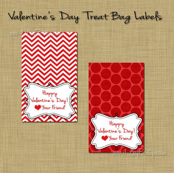 Valentines Day Treat Bag Toppers Valentines Pinterest
