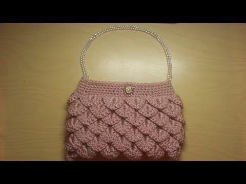 Crochet How To #Crochet crocodile stitch clutch purse Tutorial #5 LEARN CROCHET - YouTube