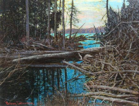 """Wilds of Algonquin"" Created in 1929 by Frank Hans Johnston G7 Member 