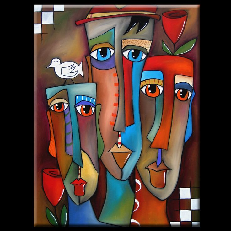 Tom Fedro Styles | Details about This Moment - Original Abstract Modern HUGE CUBIST Art ...