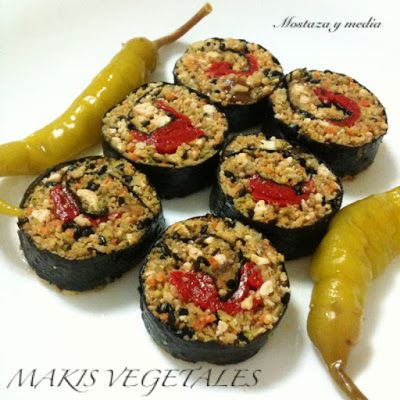 Mostaza y media: Makis sin arroz de romanesco, nueces y tofu