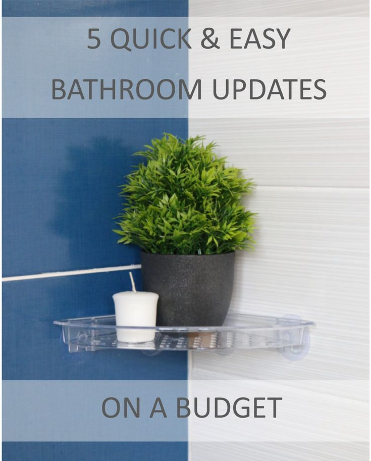 How to update your bathroom with colour, textures and soft furnishings when you're on a budget.