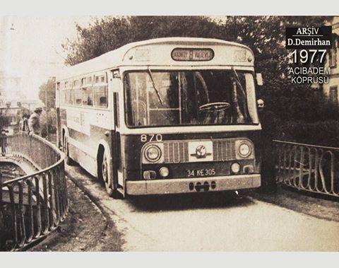 1977 Kadıköy/Acıbadem köprüsü Eski Leyland belediye otobüsü