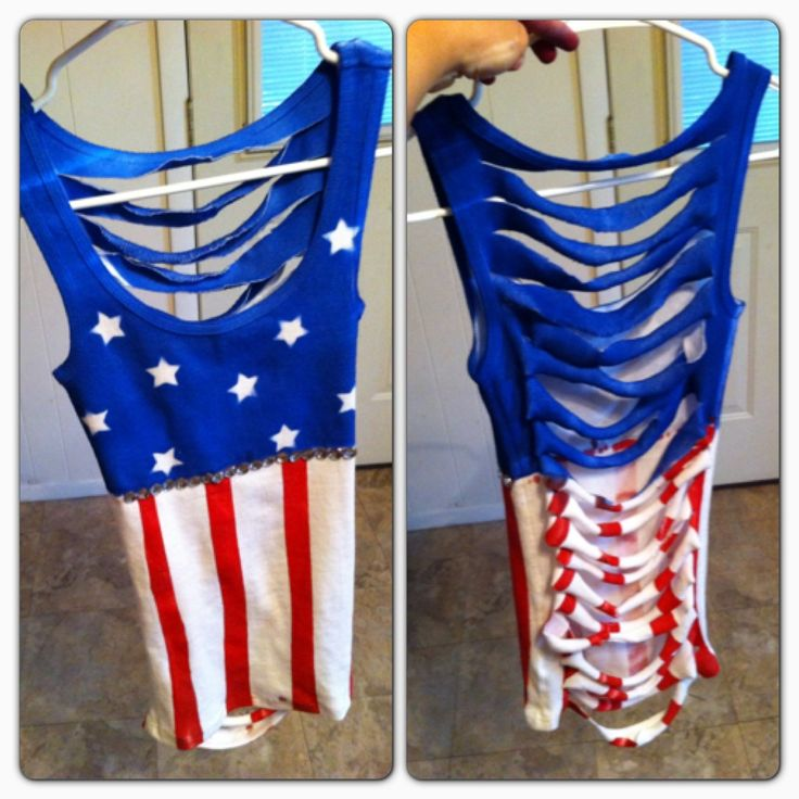 4th of july bow back tank