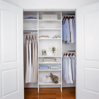 LOVE the use of space. We have a large walk-in closet, but it feels so cluttered as things can only be hung at one height or stored on the floor. I need a closet organizer!
