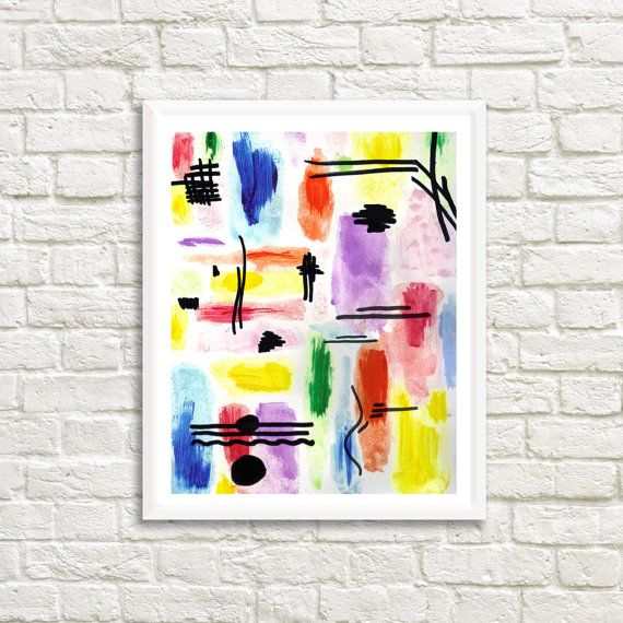 Original Colorful Kandinsky inspired Abstract 20 x