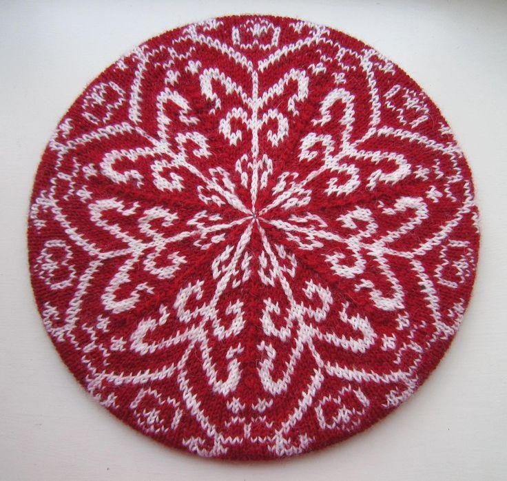 Nordic Winter Tam. Intricate beautiful beret. PDF knitting pattern Beautifu...