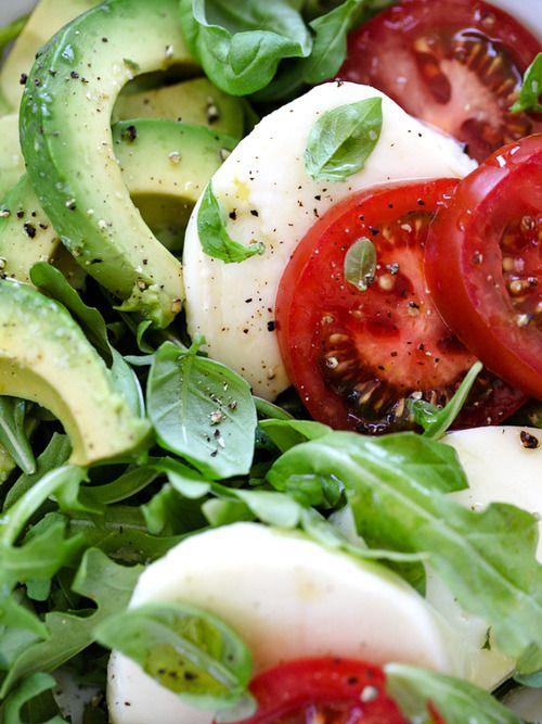 Avocado caprese salad <3 one of my faves!