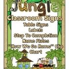 Jungle Theme Table Signs, Classroom Labels, Steps To Completion, and More!