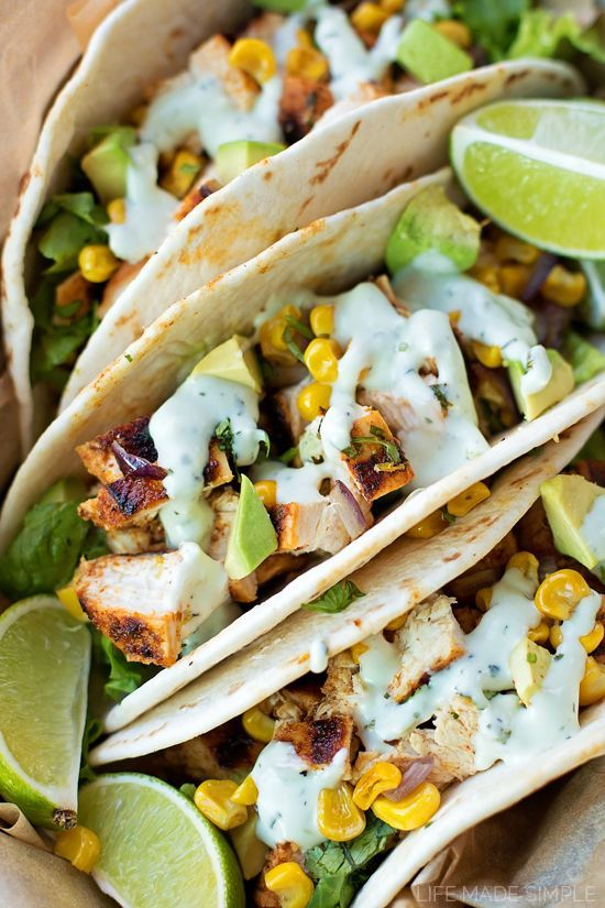 Chili Lime Chicken Tacos | http://lifemadesimplebakes.com