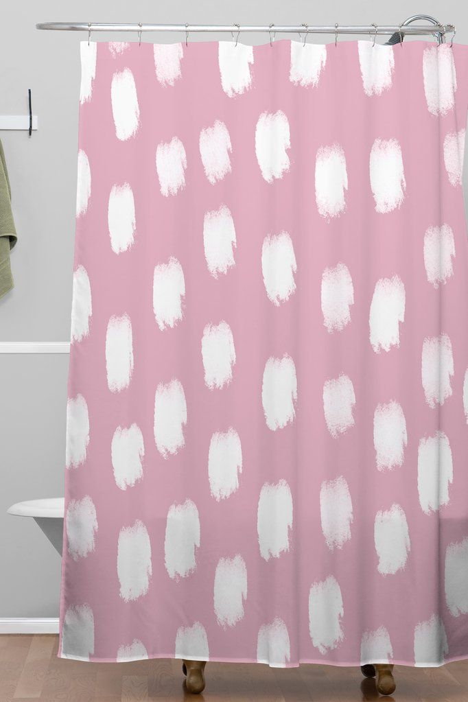 Mauve Brush Strokes Shower Curtain Allyson Johnson