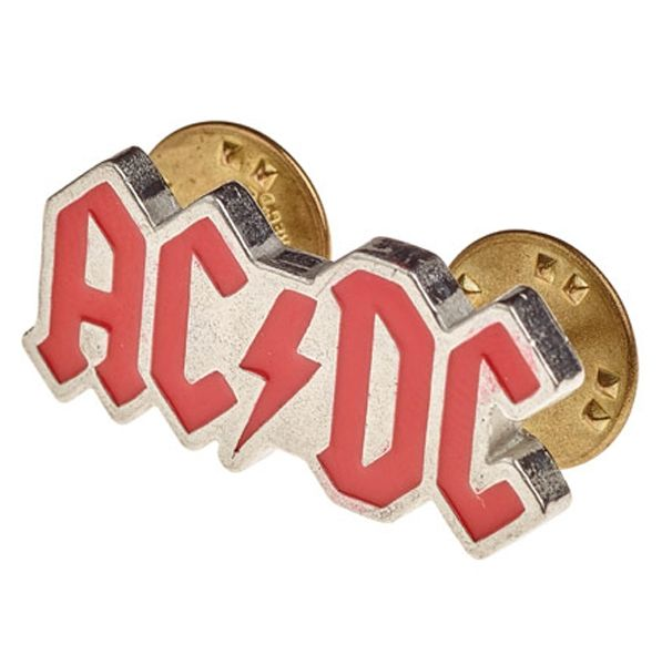 AC/DC Enamelled Logo Pin Badge