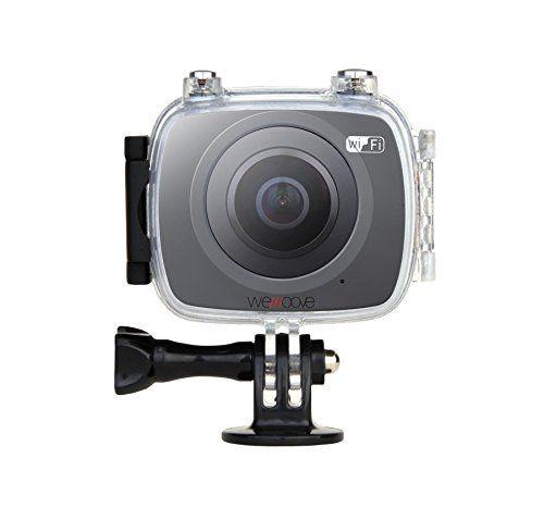 Cámara INMERSIVA 360º de grabación en Full HD 30 imágenes/segundo. Incluye pack de accesorios completos (carcasa estanca 30 metros palo telescópico gafas VR fijación auriculares y adaptador GoPro)
