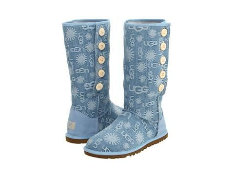 UGG Cizme UGG - Lo Pro Denim Jacquard - Light Blue