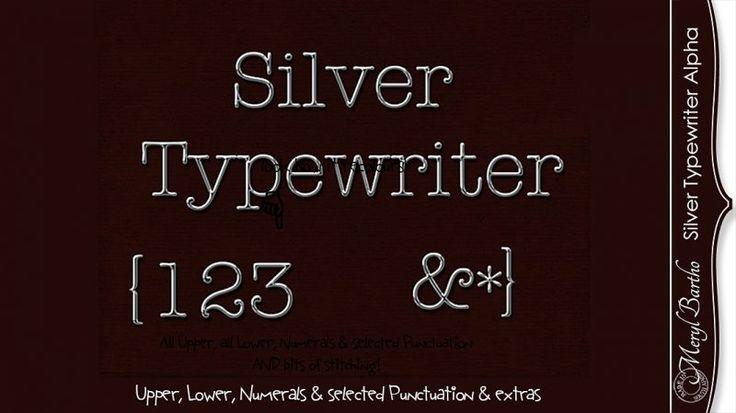 Silver Typewriter Alpha