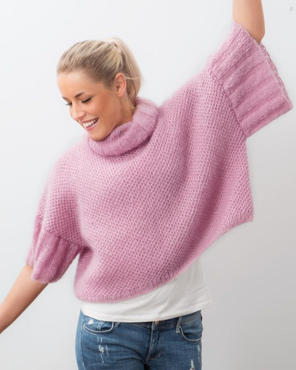 Mohairtröja med schysst bredd i ärmarna.  http://www.knittingroom.se/butik/default.asp?pf_id=SE-112297