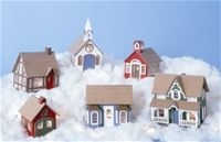The Miniature Greenleaf Village-All wood village you assemble yourself and paint-$39.99