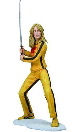 "Kill Bill Vol. 1: The Bride 13-Inch Statue by NECA. $149.99. From her climactic sword duel with Japanese crimelord (and member of the Deadly Viper Assassination Squad) O-Ren Ishii, The Bride (Uma Thurman) stands on a snow-covered base holding the instrument of her vengeance: the deadly Hattori Hanzo blade. Standing 13"" tall, The Bride features stunning sculpting that accurately captures the likeness of Uma Thurman from the film Kill Bill Vol. 1, dressed in her Bruce Lee-..."