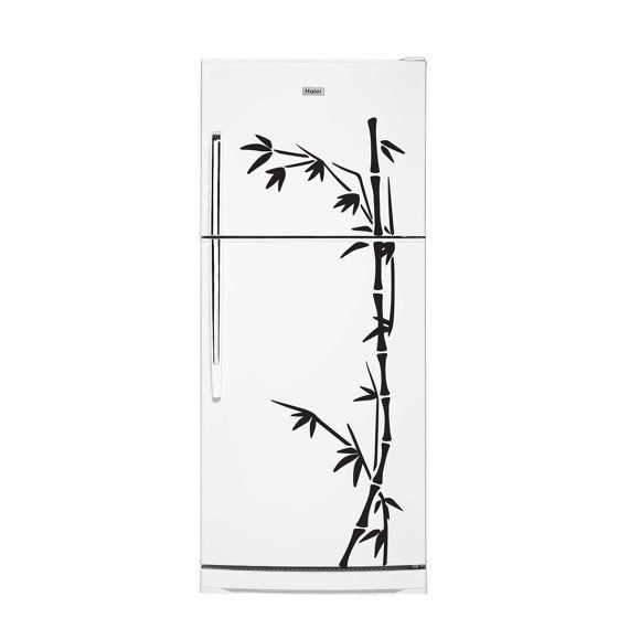Bamboo fridge decal sticker kitchen decal vinyl by vinyleegraphix