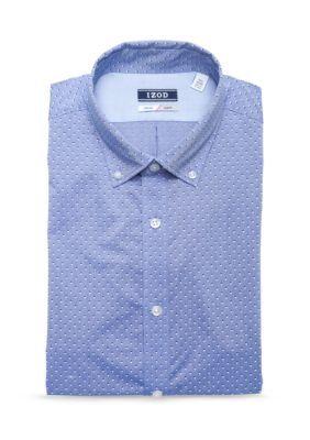 Izod Men's Izod Performx Slim Fit Dress Shirt - Clear Water - 15.5 34/35