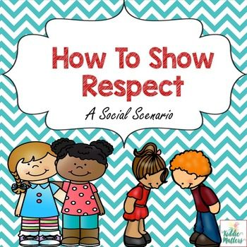 Being able to show respect is a very important skill for children to develop.  In this social story, children learn ways they can show respect both at home and at school.  You can use this social story in either individual or group practice.This product includes:Color copy of social storyBlack and white copy of social storyDiscussion questionsRESPECT activity**This product is part of my Character Education: Respect Bundle**If you like this product you may also like:Helping Children Cope With…