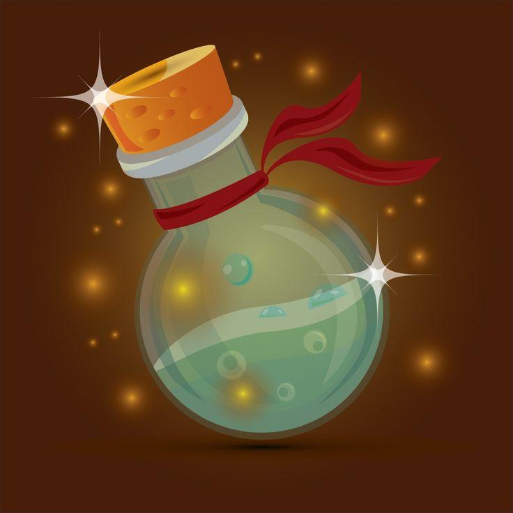 Magic bottle design. This design is free to download at https://newarta.com/product/magic-bottle-design/