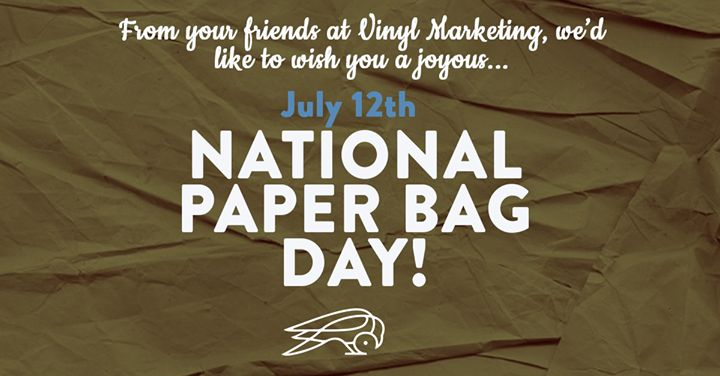 Happy National Paper Bag Day! None of that fancy lunchbox noise today.