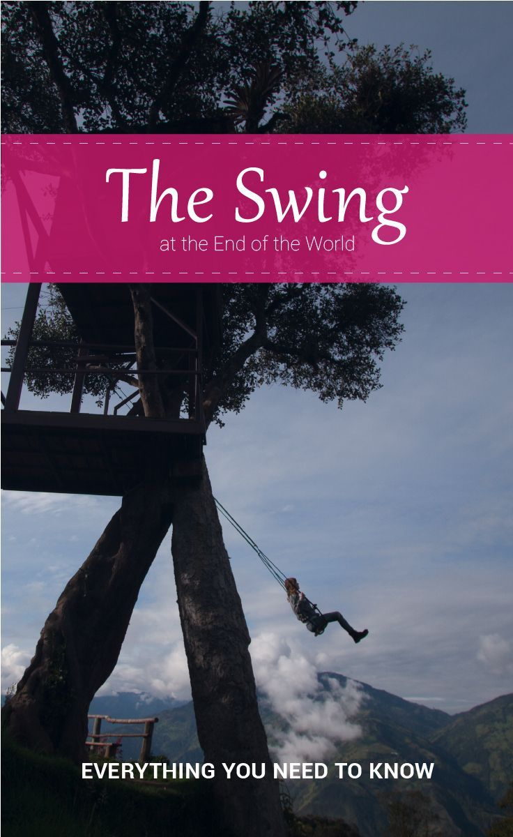 You have probably seen pictures of the swing at the end of the world. That swing is in Baños, Ecuador. In the last couple of years, this city got famous because of the Casa Del Arbol Swing, especially among millennials. Bañoswas famous before that.  The Viking Abroad. #casadelarbol #banos #ecuador #baños