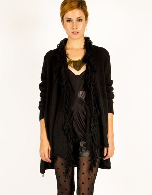 Fancy!! Fringed cardigan. #fashion #womensfashion #knit #cardigan #toimoi #toimoifashion #fancy