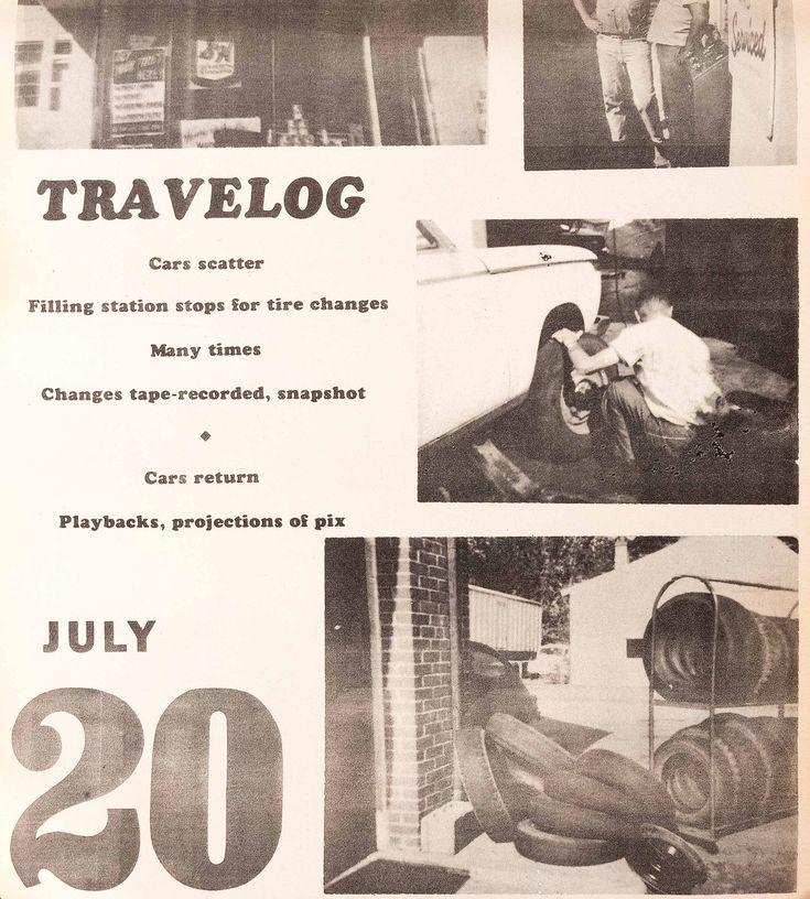 Allan KAPROW (1927-2006) A Calendar of Happening. Calendrier. Impression sur du papier journal, emballé pour être livré. Kalender. Afdruk op krantenpapier, ingepakt voor levering. 26,7 x 39,1 cm