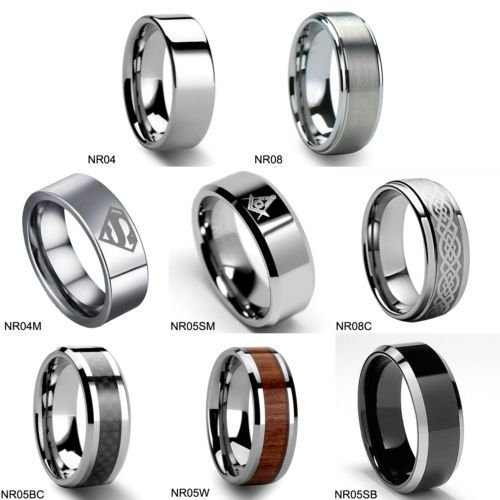 men 39 s tungsten carbide promise ring various style wedding. Black Bedroom Furniture Sets. Home Design Ideas