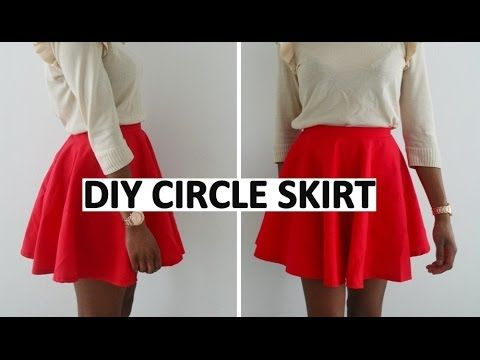 DIY | HOW TO MAKE A FULL CIRCLE / SKATER SKIRT - YouTube