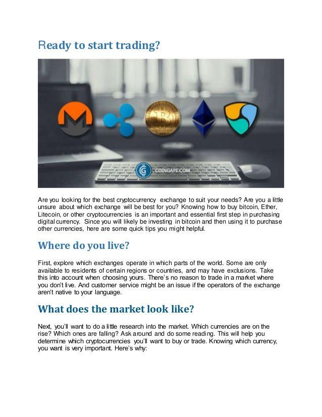 cryptocurrency exchanges aren