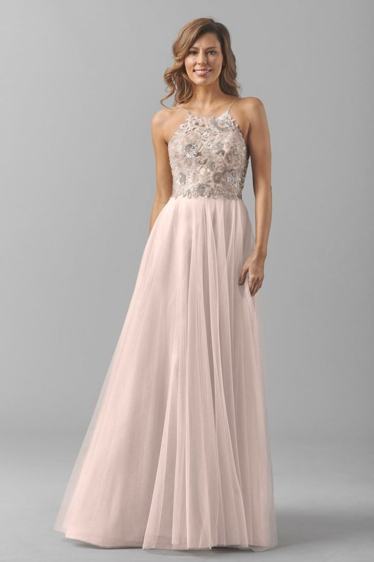 Dusty pink bridesmaid gown: http://www.stylemepretty.com/2016/02/22/taylor-swift-maid-of-honor-dress-britany-maack/