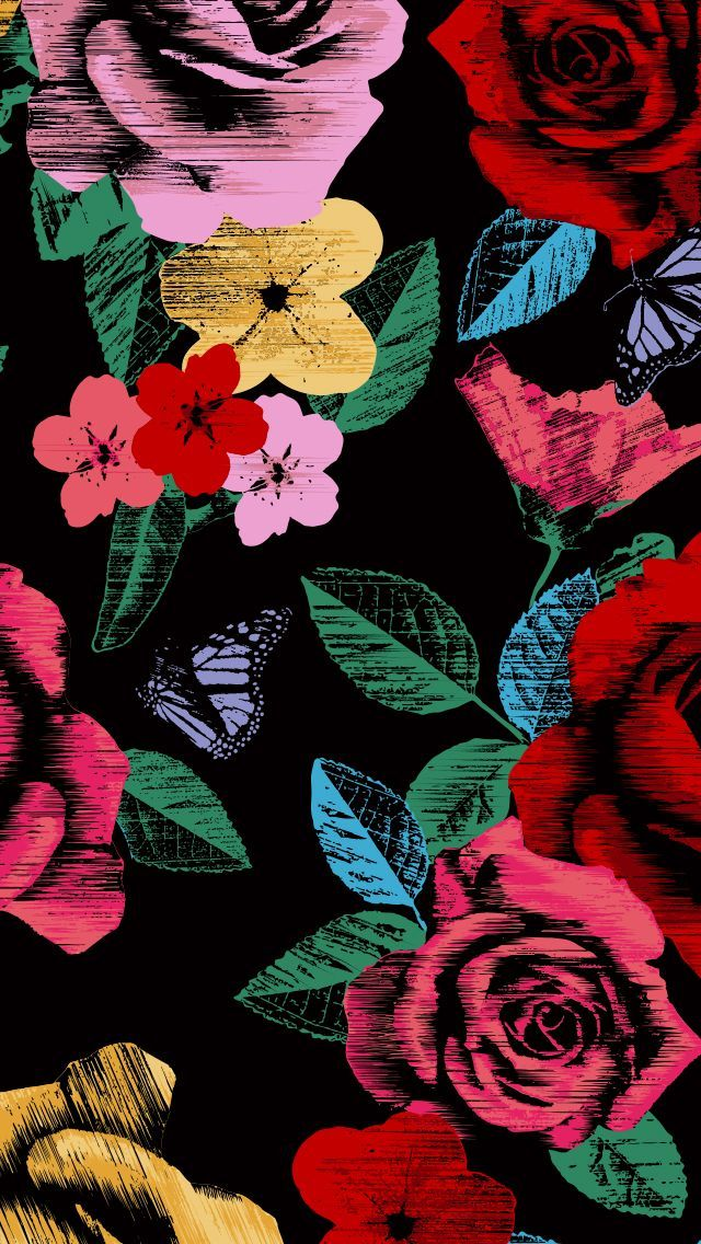 Vera Bradley Cell Phone Wallpaper - Havana Rose Pattern