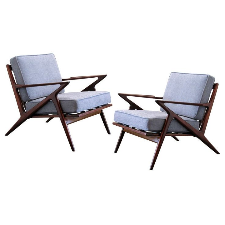 Pair of selig arm chairs by poul jensen colors armchairs and teak - Selig z chair for sale ...
