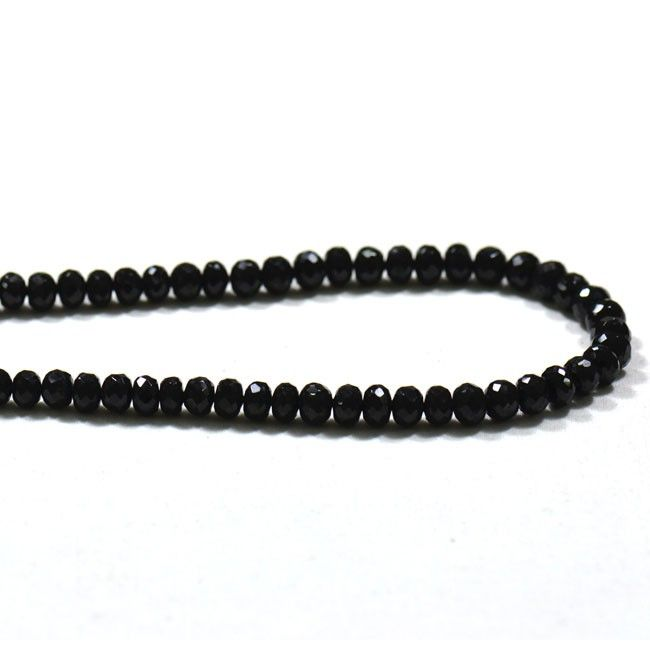 Get the best natural Black Onyx Gemstone beads from Indian Mines. Available in clear faceted beads. A bead measures is 7mm.