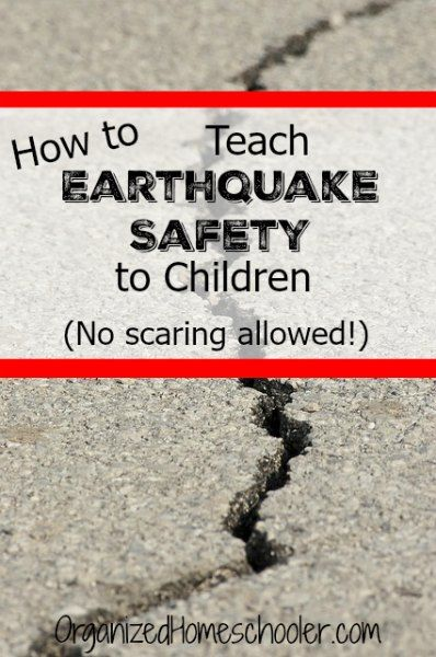 Teaching earthquake safety for kids is an important part of emergency preparedness. #safekids