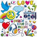 hand-drawn Peace symbols