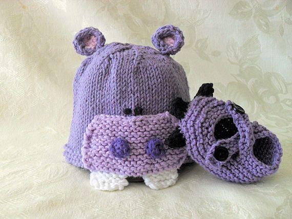 Bebé hipopótamo bebé sombrero Halloween bebé gorro de punto