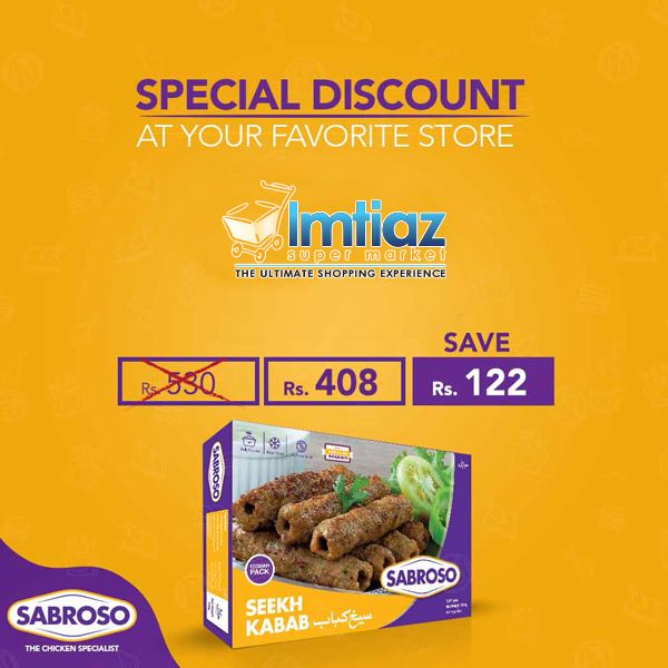 Sabroso Seekh Kabab Special Discount Save Rs 122 Starting From 1st Dec Limited Time Offer Sabroso Manosalwa Bigbird Seek Food Cheese Ball Supermarket