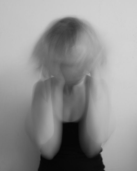 Black and White Mental Illness Photograph - 10x8 - self portrait, depression, anxiety, madness