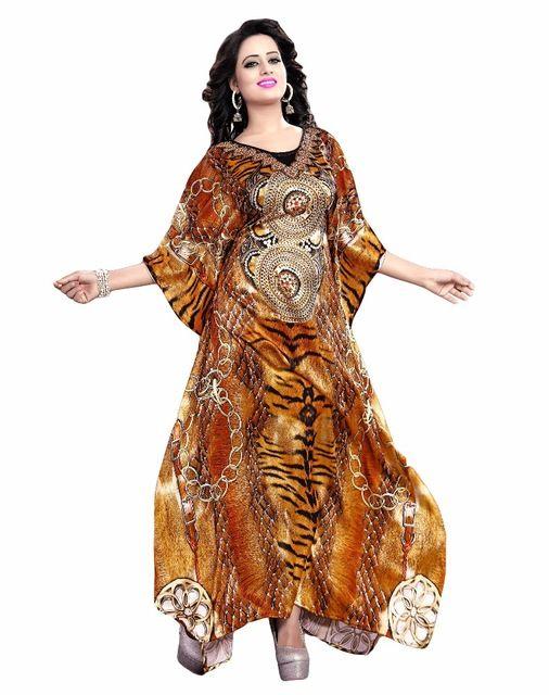 Source Women's Golden Colour Amazing 3D Printed Kaftan / Latest Kaftan Collection / Exclusive Animal Skin Printed Kurta (kaftan dress) on m.alibaba.com