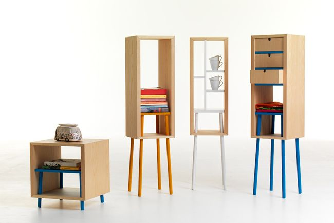 Muebles modulares por David Anzalone