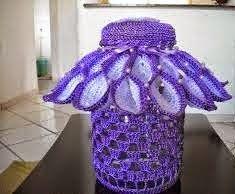 As Receitas de Crochê: Capa parax vidro em croche